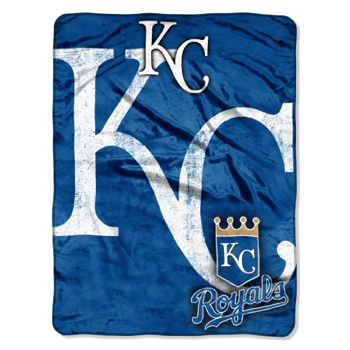 MLB Kansas City Royals Micro Raschel Plush Throw Blanket, Trip Play Design at Amazon.com