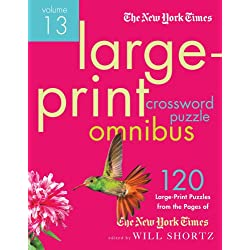 The New York Times Large-Print Crossword Puzzle Omnibus Volume 13