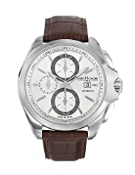 Inexpensive!! Saint Honore Men's 874065 1AIAN Coloseo Automatic Chronograph Brown Leather Watch Deals