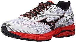 Mizuno Men\'s Wave Legend 3 Running Shoe, White/Black, 12.5 D US
