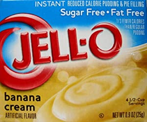 Jell-O Banana Cream Sugar Free Pudding & Pie Filling (4-Pack)