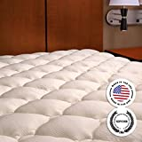 Extra Plush Bamboo Fitted Mattress Topper - Made in America - Queen Pad