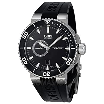 Oris Aquis Black Dial Rubber Strap Automatic Mens Watch 743-7664-7154RS from Oris
