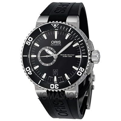 Oris Aquis Black Dial Rubber Strap Automatic Mens Watch 743-7664-7154RS