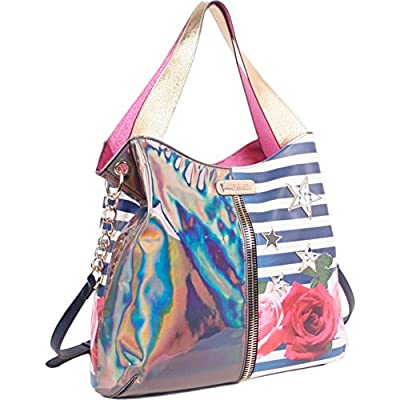 Nicole Lee Ashton Rose Print Hobo Bag