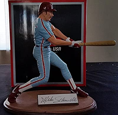 "1988 Gartlan MIKE SCHMIDT Hand Signed Cold Cast Porcelain 8"" Figurine Limited Edition Serial Numbered Autographed Complete w/ Original Box and COA Philadelphia Phillies HOF"