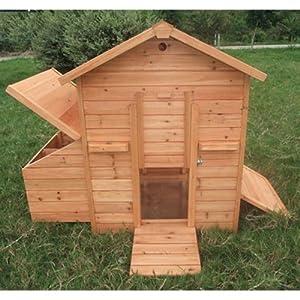 Pawhut Deluxe Wood Chicken Coop / Hen House