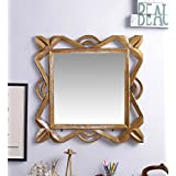 Fashion Decorative Wall MDF Square Shape Mirror Brown By Artesia