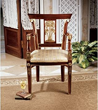Handcarved Solid Mahogany Antique Replica Armchair