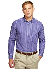 Blue Harbour Super Soft Pure Cotton Striped Shirt