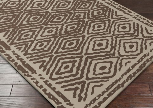 Beth Lacefield by Surya Atlas ATS-1006 Transitional Hand Woven 100% Wool Dark Taupe 8' x 11' Global Area Rug
