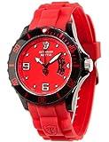Detomaso - DT2011-C - Mattia - Montre Homme - Quartz Analogique - Cadran Rouge - Bracelet Silicone Rouge