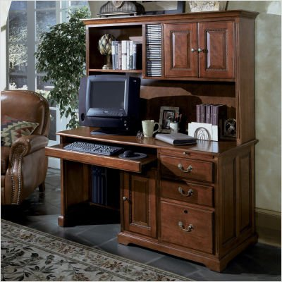 Buy Low Price Comfortable Riverside Furniture 18158 / 18161 Meridian 58″ W Computer Desk with Hutch in Cordovan Cherry (B00278Y04A)