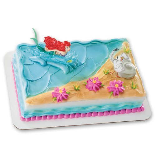 Little mermaid ariel birthday party favors and supplies for Ariel cake decoration