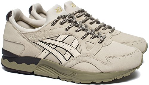 Asics Uomo Off-Bianco Gel-Lyte V Sneakers-UK 8