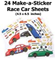 ~ 24 ~ Make-a-Race Car Sticker Sheets