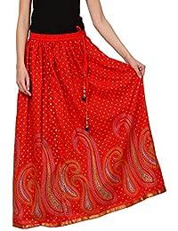 Saadgi Rajasthani Hand Block Printed Handcrafted Ethnic Lehnga Skirt For Women/Girls - B06XGJ9HSK