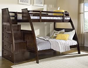 Better Homes and Gardens 09411-21E Sebring Bunk Bed with Storage, Twin/Full, Espresso