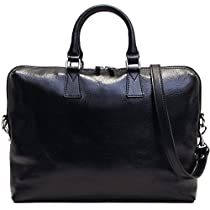 Floto Milano Slim Black Briefcase Attache Lap-top Case