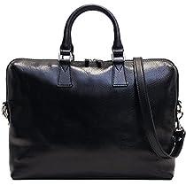 Floto Milano Slim Black Briefcase Attache Lap-top Case