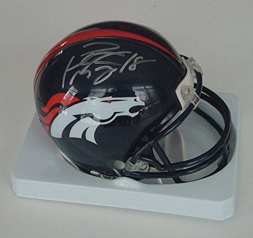 Peyton Manning Denver Broncos Autographed Riddell Football Mini Helmet COA