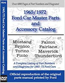 1965 1972 ford car master parts and accessory catalog for Ford motor company auto parts