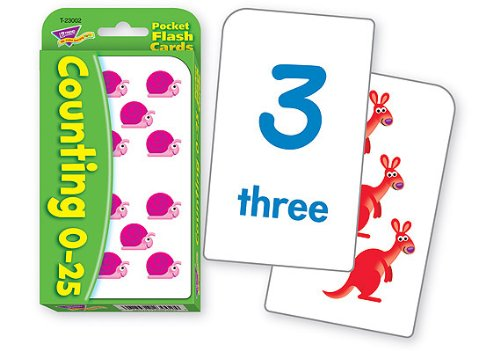 Counting 0-25 Pocket Flashcards - 1