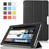 MoKo Ultra Slim Lightweight Smart-shell Stand Cover Case for Google Nexus 7 inch Tablet by ASUS, BLACK (with Smart Cover Auto Wake/Sleep)
