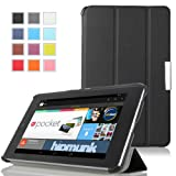 MoKo Ultra Slim Lightweight Smart-shell Stand Case for Google Nexus 7 inch Tablet by ASUS, BLACK (with Smart Cover Auto Wake/Sleep)