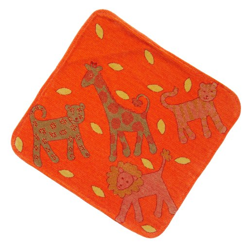 Breganwood Organics Hooded Towel, Jungle Orange
