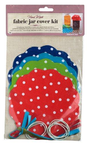 Kitchen Craft Home Made de 8kits pour couvercle de pots de confiture en tissu motif à pois