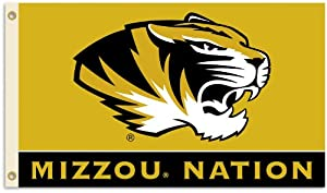 Buy NCAA Missouri Tigers 3-by-5 Foot Flag With Grommets by BSI
