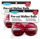Top Glides Precut Walker Tennis Ball Glides - Red - 2 Pairs