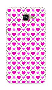 Amez designer printed 3d premium high quality back case cover for Samsung Galaxy A9 (Romantic Pink Color Hearts6)