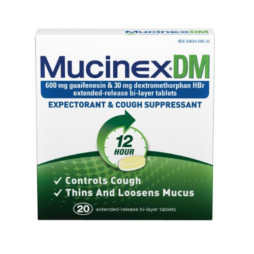 Mucinex DM Expectorant and Cough Suppressant - 20 Count