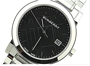 腕時計 バーバリー Burberry Men's BU9001 Large Check Stainless Steel Bracelet Watch【並行輸入品】