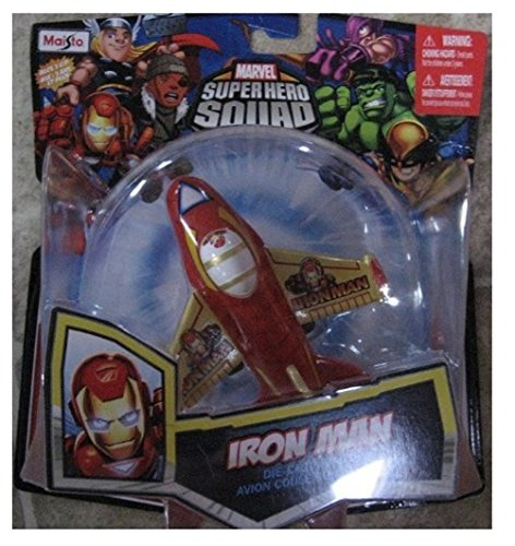Marvel Super Hero Squad IRON MAN Sky Squadies Die-Cast Airplane