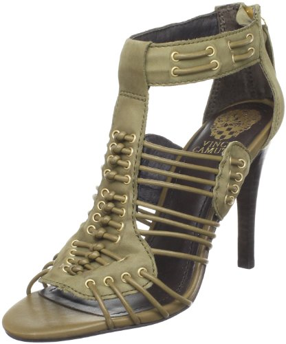 Vince Camuto Women's Amli Ankle-Strap Sandal,Army,8.5 M US