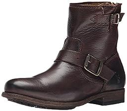 FRYE Women\'s Tyler-SVL Engineer Boot,  Dark Brown, 8.5 M US