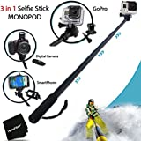 Xtech® Extendable Waterproof Handheld Monopod POLE for GoPro HERO4 Hero 4, GoPro HERO3 Hero 3, GoPro Hero3+, GoPro Hero2, GoPro HD Motorsports HERO, GoPro Surf Hero, GoPro Hero Naked, GoPro Hero 960, GoPro Hero HD 1080p, GoPro Hero2 Outdoor Edition and All GoPro HERO Cameras.