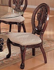 Set of 2 Dining Side Chairs in Deep Rich Cherry Finish