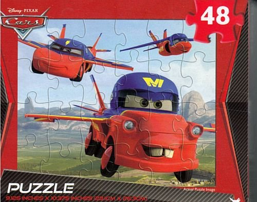 Disney Pixar Cars Mater Flying Spy Car 48 Piece Jigsaw Puzzle - 1