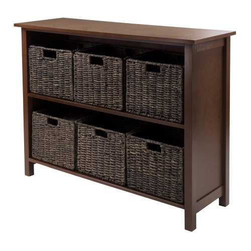 Winsome Granville 2-Section 7-Piece Storage Shelf Wide with 6-Foldable Baskets (Foldable Drawer Storage Unit compare prices)