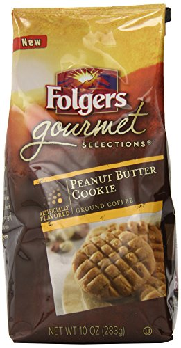 Folgers Gourmet Selections Peanut Butter Cookie Flavored Coffee, 10 Ounce (Flavored Coffee compare prices)