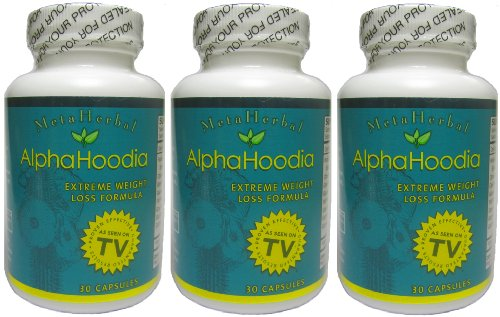 Alpha Hoodia: Best Diet Pill with Green Tea, Bitter Orange, Guarana, & More For Weight Loss - Fat Burner & Weight Control - 3 Bottles (90 Capsules)