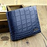 [sealche]牛皮二つ折り財布(おしゃれなクロコダイル調)
