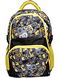 Gleam Adventure Multicolour Polyester School Bag ( Yellow & Black )