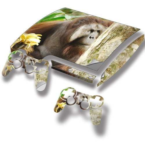 """Monkeys"" 10012, Snuggle Edition, Sticker For Playstation 3 Slim Game Console."