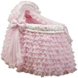 Baby Doll Bedding Little Ballerina Bassinet Set, Pink