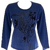 Giro Jersey sequined sweater RISMEL art.G37E-9 t. M col.CORNFLOWER BLUE